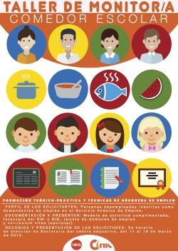 cartel taller monitor comedor escolar